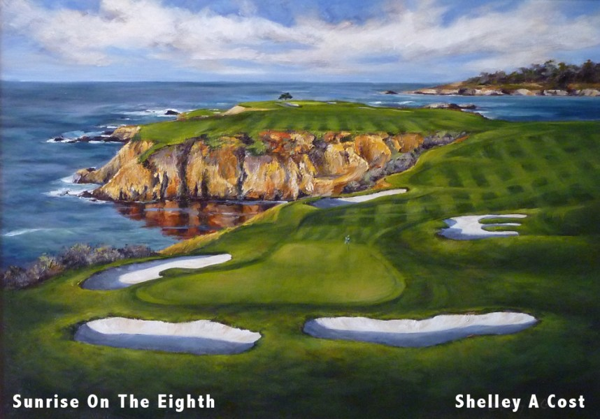 AT T Pebble Beach Pro Am   Carmel Valley Road Company  Sunrise On The Eighth  by Shelley A Cost