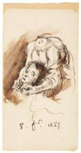 Le miracle de Saint Just - Dessin Eugène Delacroix