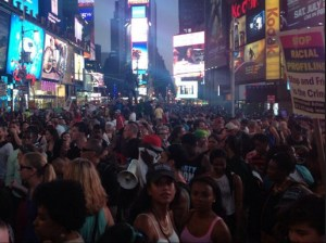 Protesters in Times Square