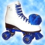 A close replica of my roller skates... just add more handmade pom poms!