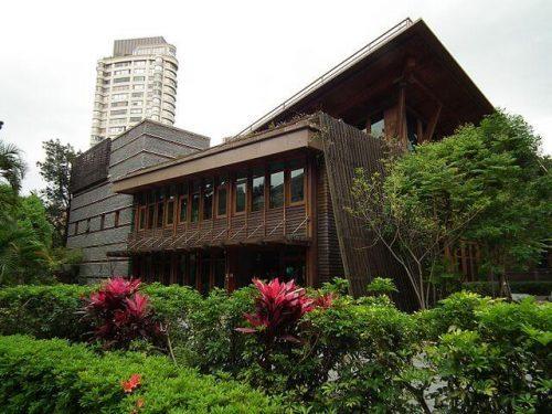 exterior biblioteca pública Taipei