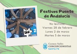 No lectivo: Puente de Andalucía