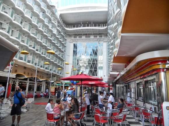 Boardwalk on Oasis of the Seas