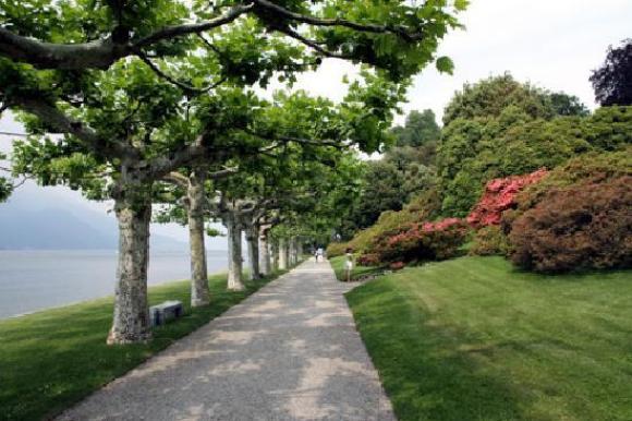 Villa Melzi walkway just outside the town of Bellagio in Lake Como