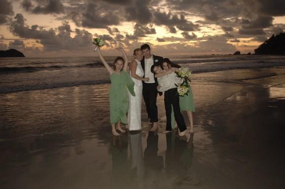 Sunset Wedding Ceremony on the beach of Manuel Antonio