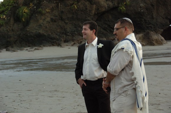 John and the Rabbi on Manuel Antonio Beach