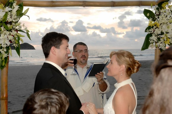 Our Wedding on the beach in Manuel Antonio