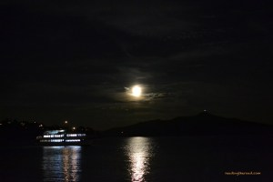 Cruise under the moon