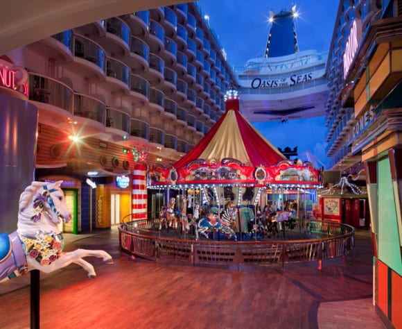 Boardwalk on the Oasis of the Seas (photo credit: Royal Caribbean)