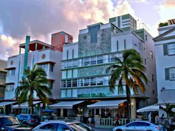 Art Deco Buildings on Ocean Drive - South Beach