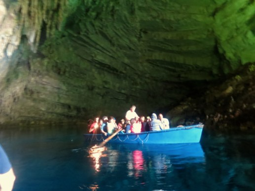 Inside the Second Hall at Melissani Cave, Kefalonia Greece