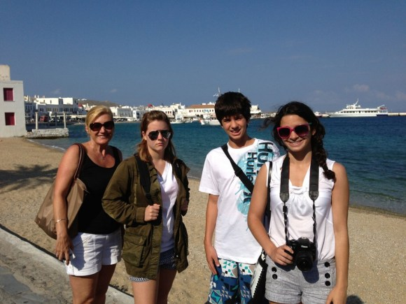 Family Picture, Mykonos Greece