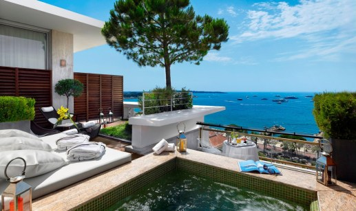 Penthouse Suite at Grand Hyatt Cannes Hotel Martinez