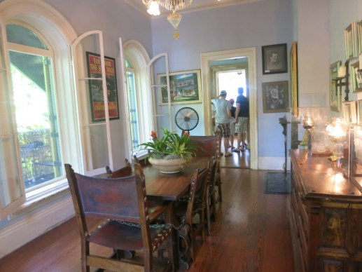 Ernest Hemingway's Dining Room inside his Key West house