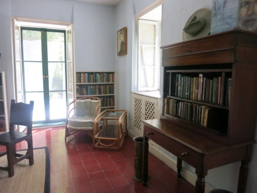 Ernest Hemingway's Writing Studio filled with books, Key West