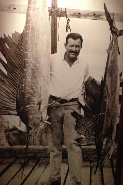 Ernest Hemingway with his catch of the day