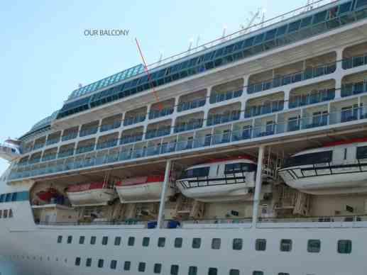 Our Balcony on the Deck Eight, Splendour of the Seas
