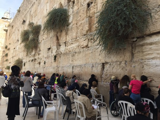 Women praying at The Wailing Wall, Jerusalem