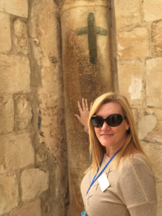 Outside the Entrance of the Church of the Holy Sepulchre