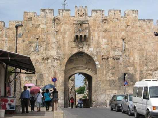 Lion's Gate in Old Jerusalem