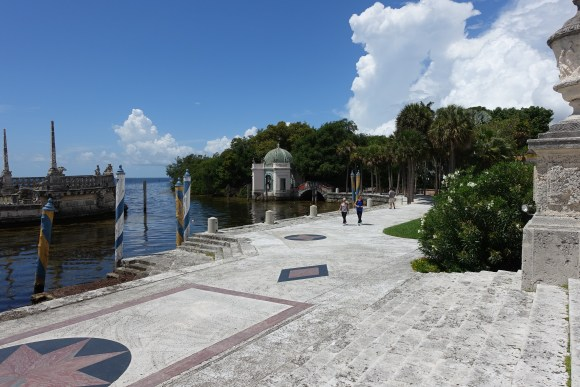 View of Biscayne Bay from Vizcaya Museum and Gardens
