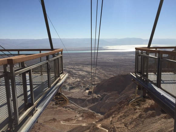 Cable Car Base in Masada at the top