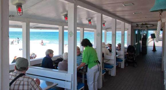 Anglins Beach Cafe Outdoor Seating, Lauderdale By the Sea