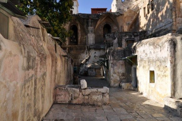 The Deir El Sultan monastery outside The Church of Holy Sepulchre