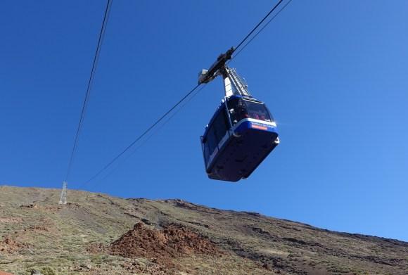 Teide Cable Car heading up Teide Mountain, Teide National Park