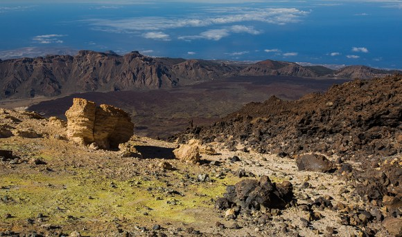 View from on top of Teide Summit, Teide National Park, Tenerife