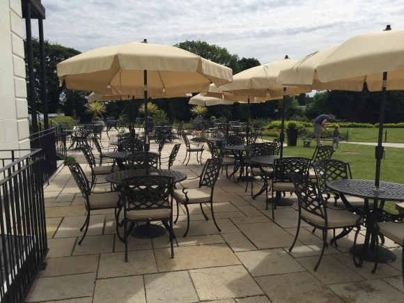 Quay Bar and Brasserie Restaurant outdoor seating area