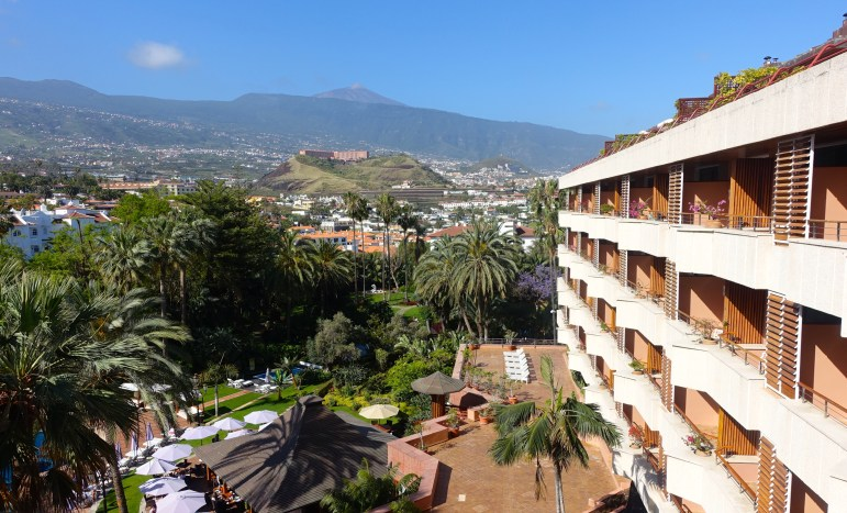 Hotel Botanico views of La Orotava and Mount Teide