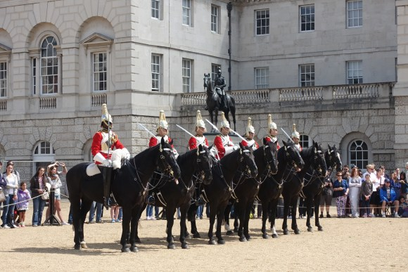 Horse Guards Ceremony, changing of the guard at St. James's Palace