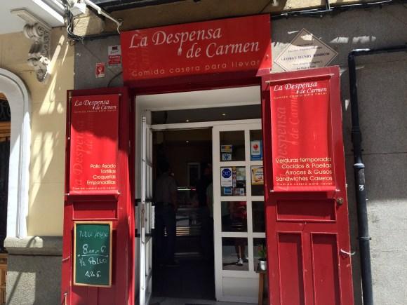 La Despensa de Carmen entrance - Madrid
