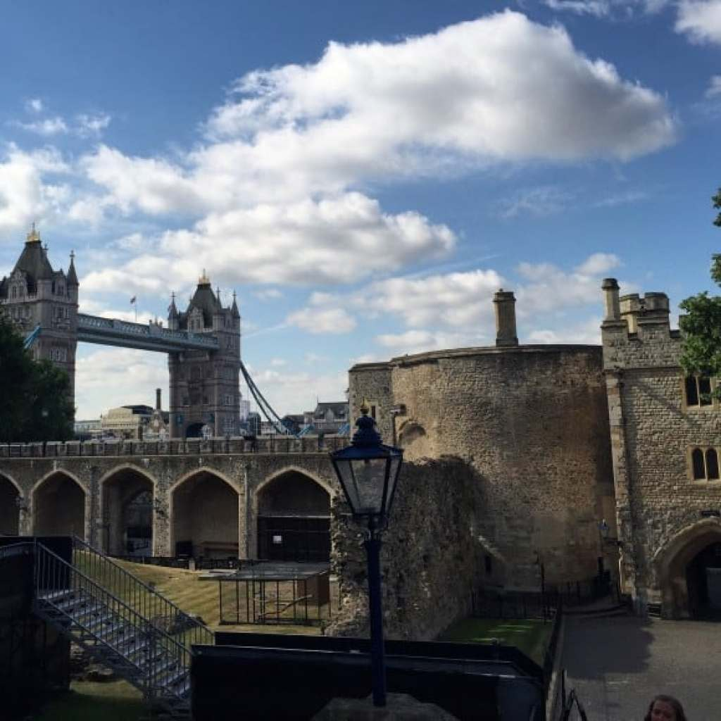 A view from inside the grounds of Tower of London