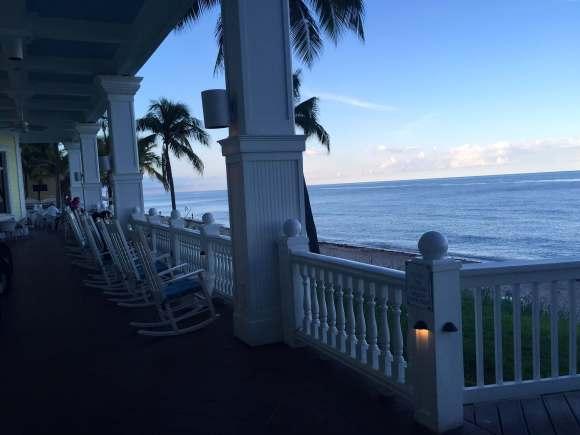Pelican Grand Beach Resort rocking chairs, Fort Lauderdale