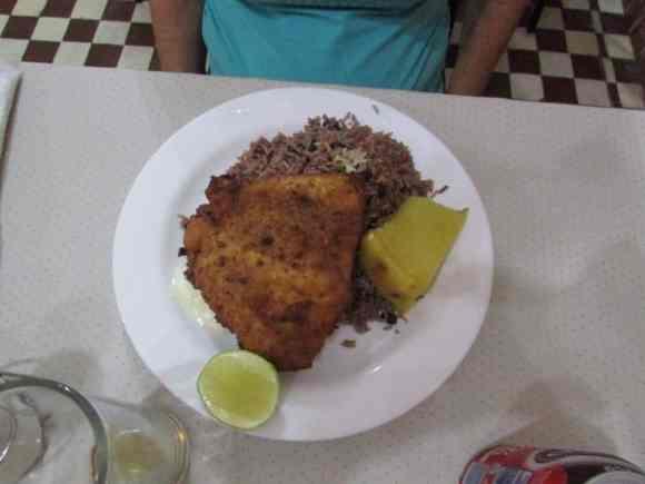 My aunts dinner at 1900's Restaurant in Placetas Cuba