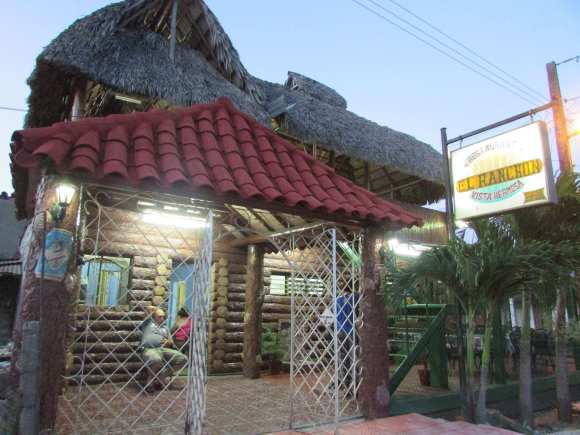 Entrance to El Ranchón in Placetas Cuba