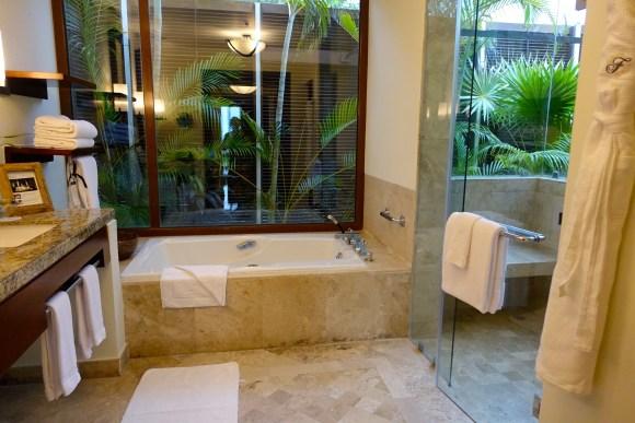 Oceanfront Beach Casita Bathroom - Fairmont Mayakoba