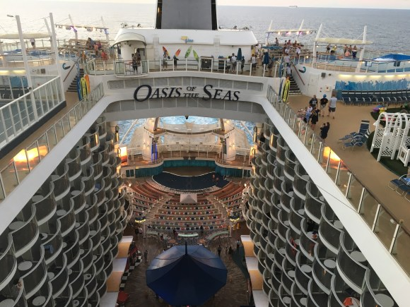 The view from our Crown Loft Suite #1730 on the Oasis of the Seas
