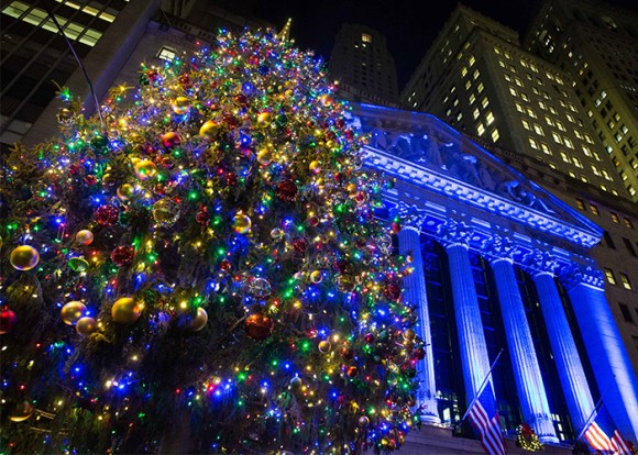 New York Stock Exchange Christmas Tree (Photo Credit: NYSE)