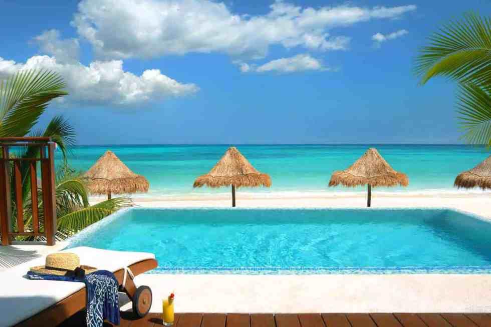 Oceanfront Casita Suite Private Infinity Pool (Image: Fairmont Mayakoba)