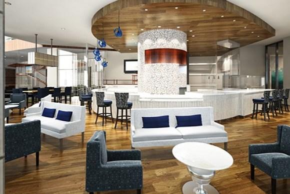 The bar at Sea-guini, Opal Sands Resort Italian Restaurant