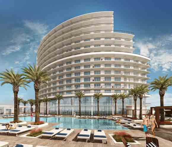 Pool Area of Opal Sands Resort ( Image Courtesy of the Opal Sands Resort)