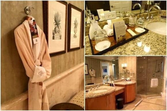 Oceanfront Suite Bathroom / Amenities at Aqualina Resort