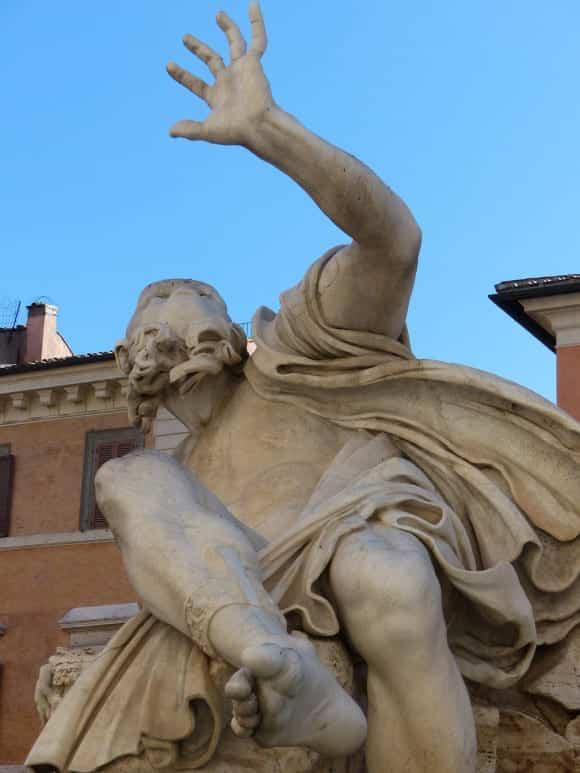 Cowering figure Rome