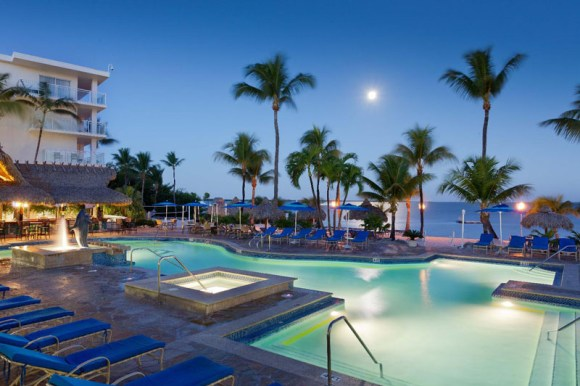 Outdoor Pool at Night photo courtesy of Key Largo Bay Marriott