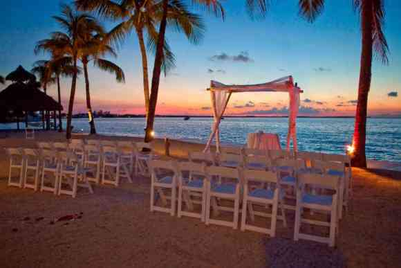 Sunset Wedding Venue photo courtesy of Key Largo Bay Marriott Resort