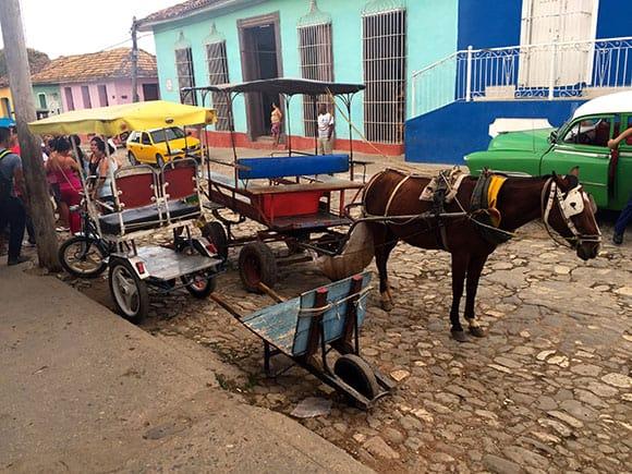 A BiciTaxi at the Bus Terminal in Trinidad Cuba