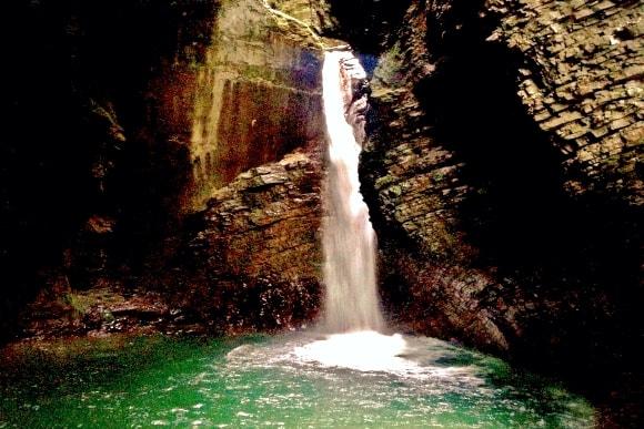 Kozjak Waterfall in the Alps
